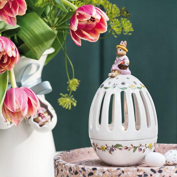 Bunny Tales świecznik na tealight w kształcie jajka Anna, 16 cm, kolorowy, , large