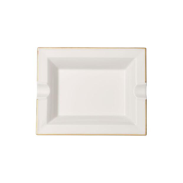 Anmut Gold popielniczka, 17 x 21 cm, biały/złoty, , large