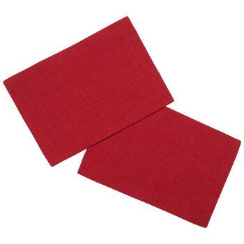 Textil Uni TREND podkładka czerwona zestaw 2-częściowy 35x50cm