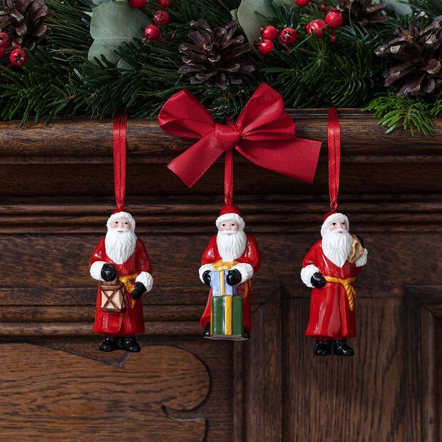 Nostalgic Ornaments zestaw ozdób św. Mikołaj, 8 x 3,5 cm, 3-częściowy, , large