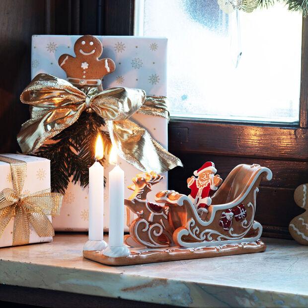 Winter Bakery Decoration sanie z piernika, brązowy/biały, 23 x 8 x 10 cm, , large