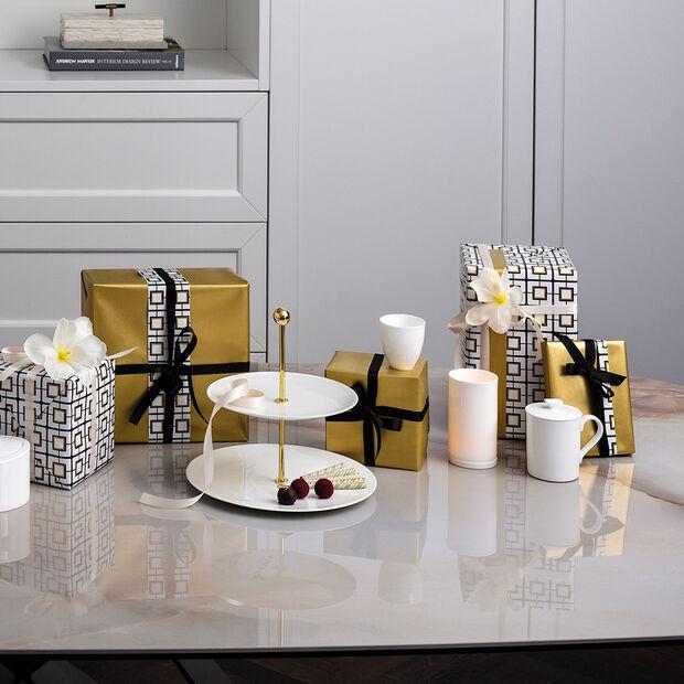 MetroChic blanc Gifts Stojak na talerze 27,5x27,5x27cm, , large