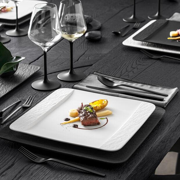 Manufacture Rock Blanc kwadratowy talerz płaski, biały, 28 x 28 x 2 cm, , large