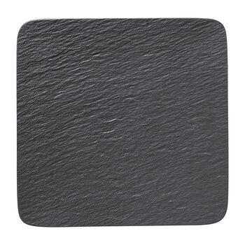 Manufacture Rock kwadratowy półmisek / talerz Gourmet, czarny/szary, 32,5 x 32,5 x 1,5 cm