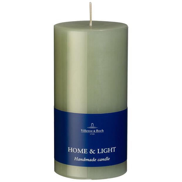 Essential Candles Fog Green Pillar 7x14 7x14cm, , large