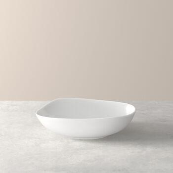 Organic White głęboki talerz, biały, 20 cm