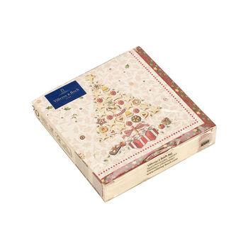 Winter Specials Bakery serwetka koktajlowa choinka, biała/kolorowa, 20 sztuk, 25 x 25 cm
