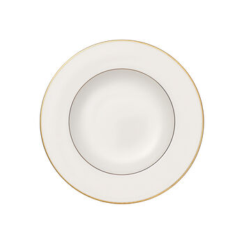 Anmut Gold talerz głęboki, średnica 24 cm, biały/złoty