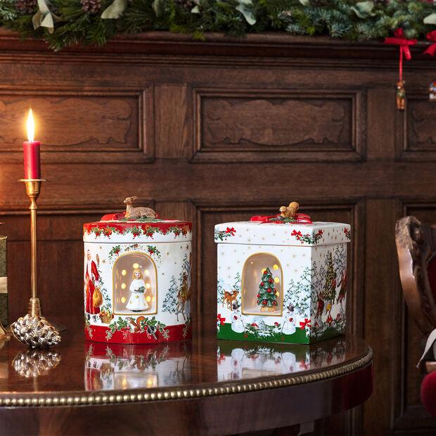 Christmas Toys duży okrągły prezent Aniołek, 17 x 17 x 21,5 cm, , large