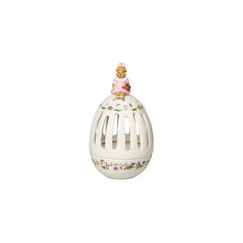 Bunny Tales świecznik na tealight w kształcie jajka Anna, 16 cm, kolorowy