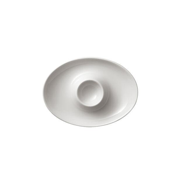 For me kieliszek do jajek, biały, 14,8 x 11,4 cm, , large