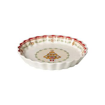 Winter Bakery Delight talerzyk na przekąski w pierniki, czerwony/kolorowy, 22 cm