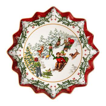 Toy's Fantasy głęboki talerz na wypieki sanna, kolorowy/czerwony/biały, 39 x 39 x 3,5 cm