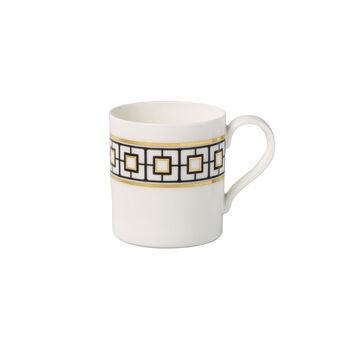 MetroChic kubek do kawy, 11 x 8 x 9 cm, biało-czarno-złoty