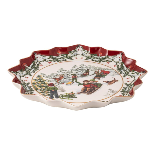 Toy's Fantasy głęboki talerz na wypieki sanna, kolorowy/czerwony/biały, 39 x 39 x 3,5 cm, , large