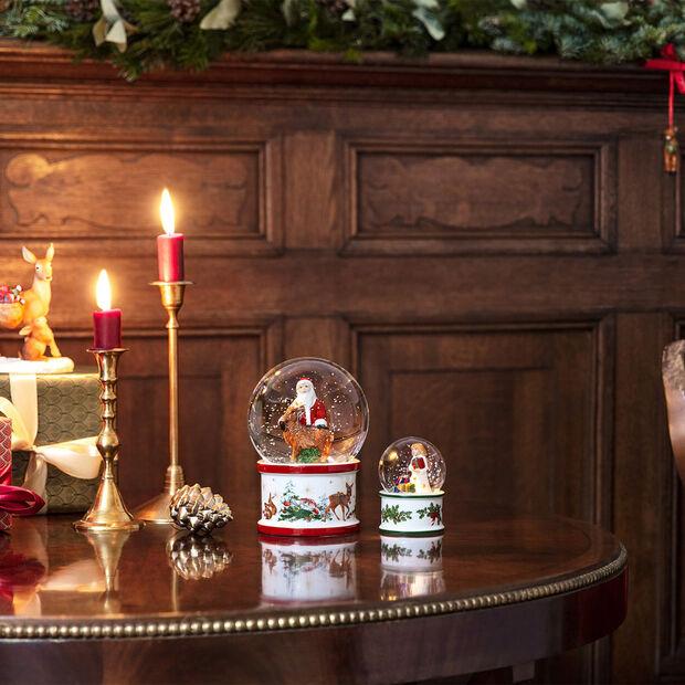 Christmas Toys duża kula śnieżna św. Mikołaj i jeleń, 13 x 13 x 17 cm, , large