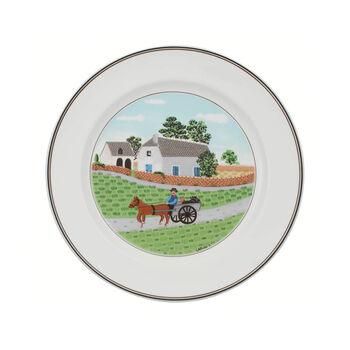 Design Naif talerz płaski rolnik