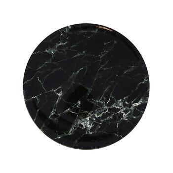 Marmory talerz płaski Black, 27x27x1,5cm