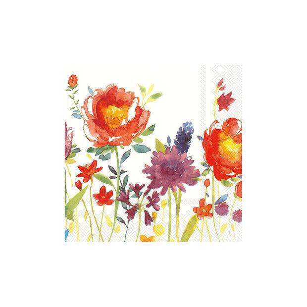 Papierowe serwetki Anmut Flowers, 20 sztuk, 33x33cm, , large