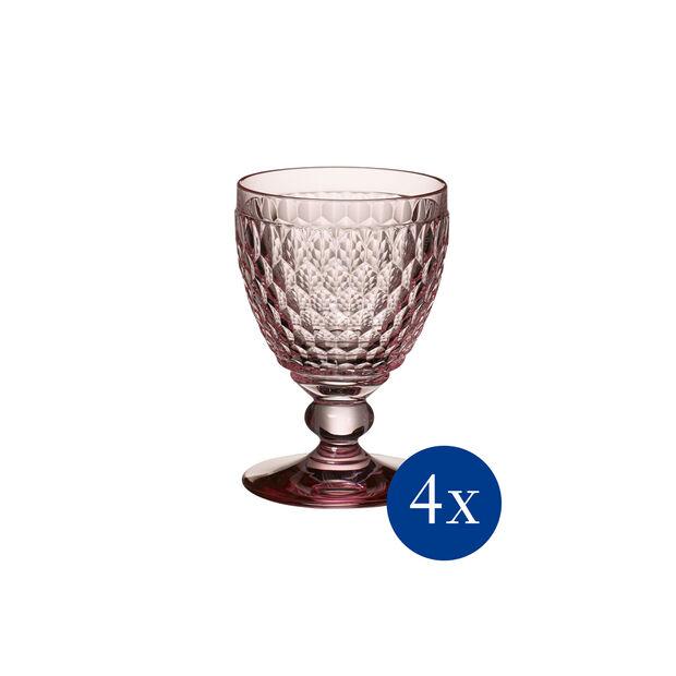 Boston coloured Kieliszek cz.wino rose Set 4pc, , large