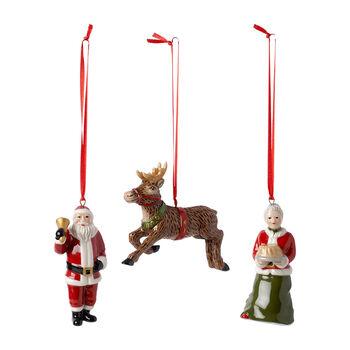 Nostalgic Ornaments Ozdoby North Pole Express 3szt. 9,5cm