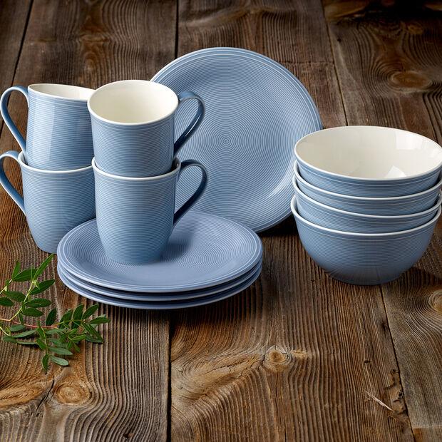 Color Loop Horizon zestaw śniadaniowy, błękitny, 12-częściowy, , large