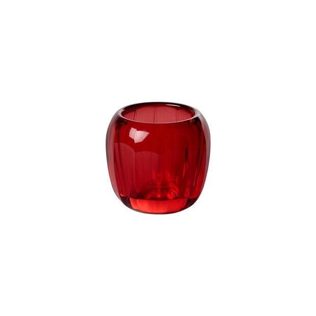 Coloured DeLight mały świecznik na tealight Deep Red, , large
