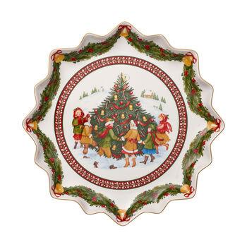 Toy's Fantasy głęboki talerz na wypieki, czerwony/kolorowy, 39 x 39 x 3,5 cm