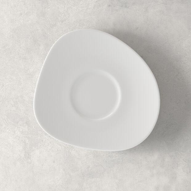 Organic White spodek do filiżanki do kawy, biały, 17,5 cm, , large