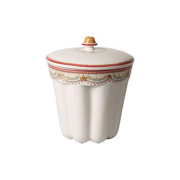 Winter Bakery Delight pojemnik do pieczenia babki w pierniki, czerwony/kolorowy, 19 x 19 x 20,5 cm, 2,3 l