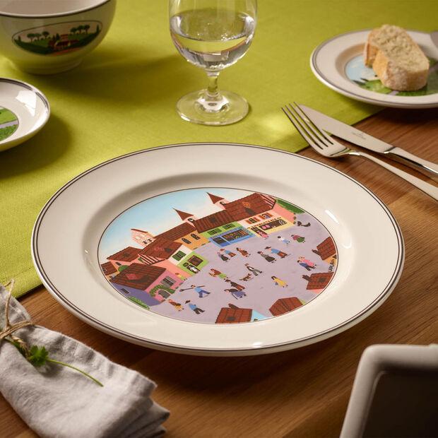 Design Naif talerz płaski wioska, , large
