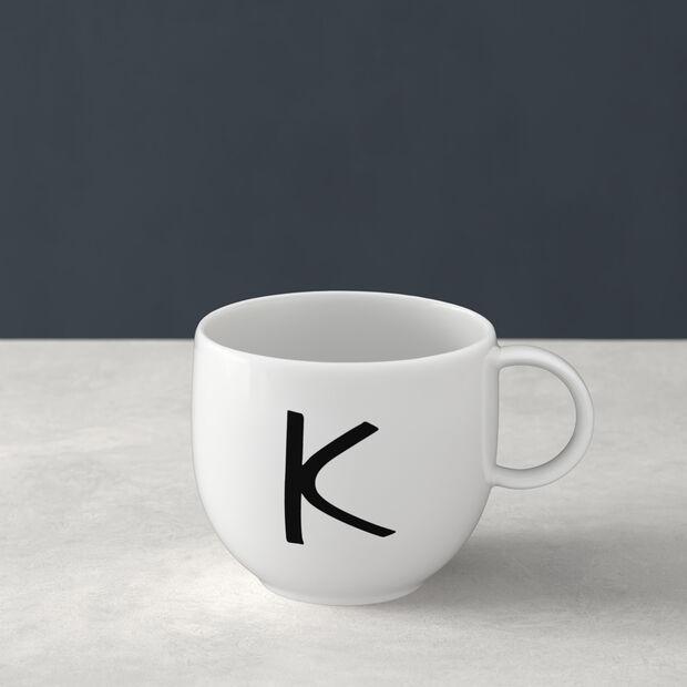 Letters Kubek K 13x10x8cm, , large