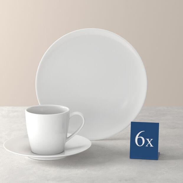 Voice Basic zestaw do kawy, biały, 18-częściowy, , large