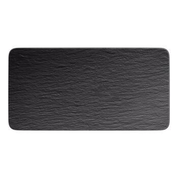 Manufacture Rock prostokątny półmisek, czarny/szary, 35 x 18 x 1 cm