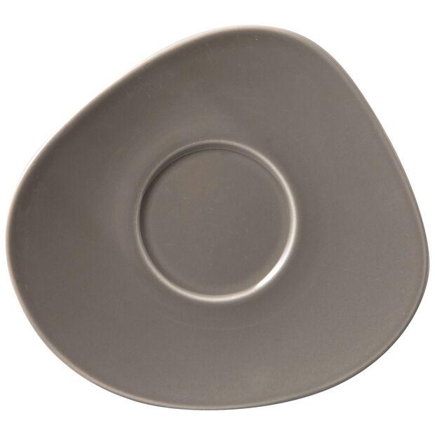 Organic Taupe spodek do filiżanki do kawy, brązowoszary, 17,5 x 16 x 2 cm, , large