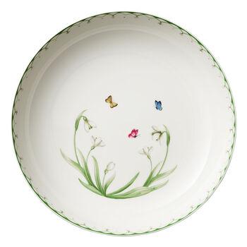 Colourful Spring duża miska do sałatek, 5,2 l, biały/zielony