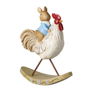 Bunny Tales figurka dekoracyjna, zając z kurczakiem