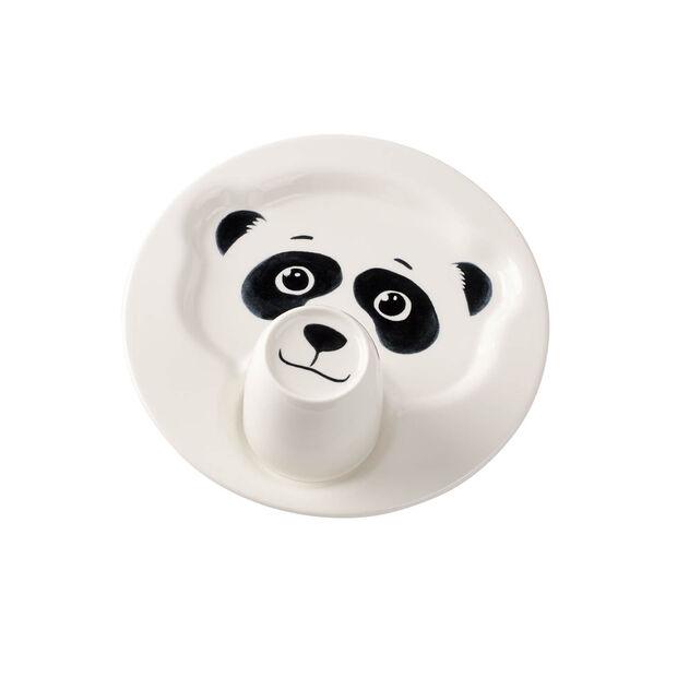 Animal Friends Plate w/mug, panda 22cm, , large