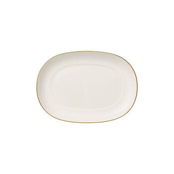 Anmut Gold półmisek na dodatki, długość 20 cm, biały/złoty