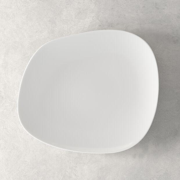 Organic White talerz płaski 28 x 24 x 3cm, , large