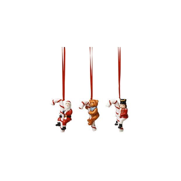 Nostalgic Ornaments Orn. Santa, Teddy, rocking horse 3pcs., , large