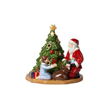 Christmas Toy's świecznik dekoracyjny wręczanie prezentów, kolorowy, 15 x 14 x 14 cm