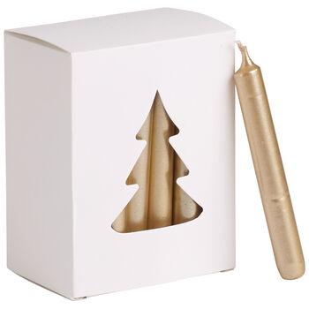 Essential Candles Świeczki złote 24el. 8x10,5x5,5cm