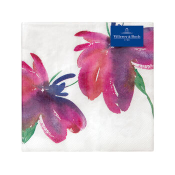 Papierowe serwetki Artesano Flower Art Lunch, 20 sztuk, 33x33cm