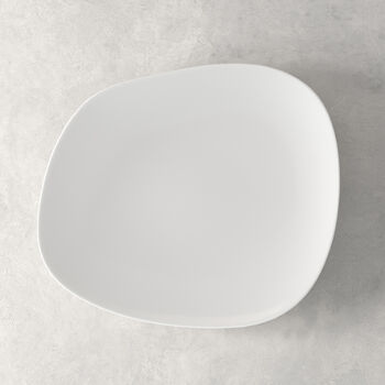 Organic White talerz płaski 28 x 24 x 3cm