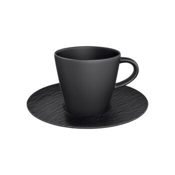 Manufacture Rock filiżanka do kawy ze spodkiem, czarny/szary, 2-cz.