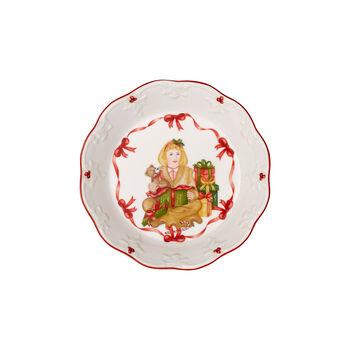 Toy's Fantasy mała miska rozpakowywanie prezentów, czerwona/kolorowa, 16,5 x 16,5 x 3 cm