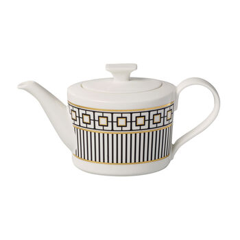 MetroChic dzbanek do kawy i herbaty, 1,2 l, biało-czarno-złoty