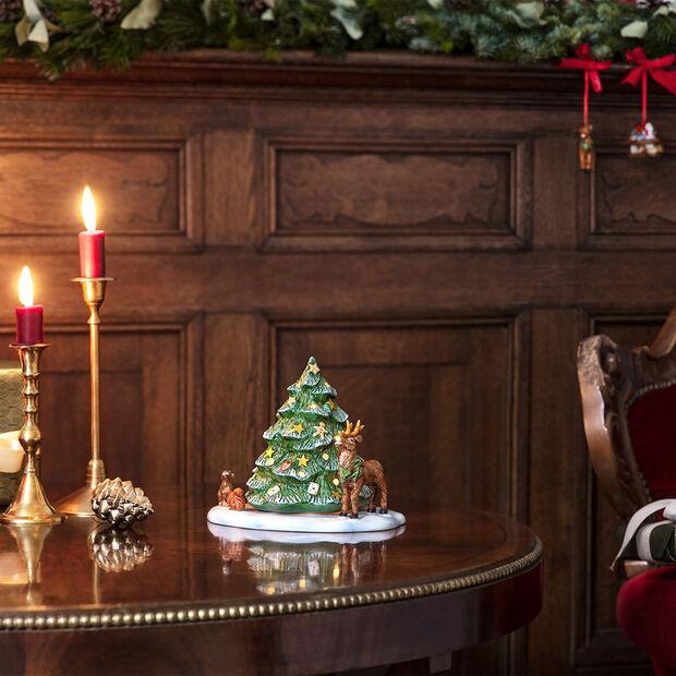 Christmas Toys choinka i leśne zwierzęta, 23 x 17 x 17 cm, , large
