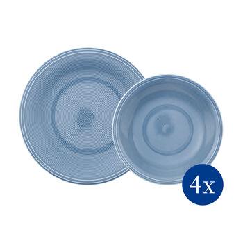 Color Loop Horizon zestaw talerzy, błękitny, 8-częściowy